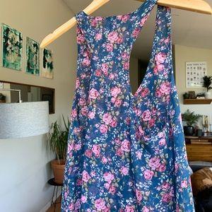 D'Closet Rose Chiffon Style Tank